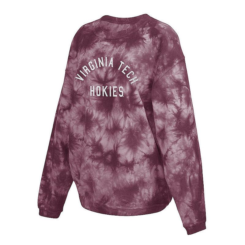 Virginia Tech Hokies Women's Tie-Dye Corded Crewneck Sweatshirt 443-51-VT520
