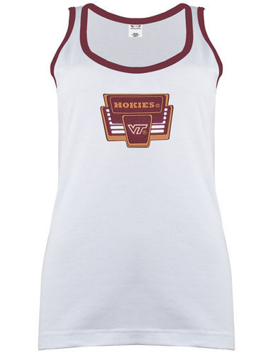 Virginia Tech Hokies Womens Tank Top White Marquee