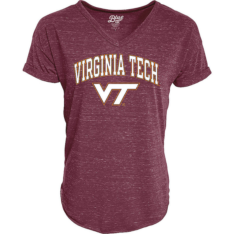 Virginia Tech Hokies Womens Vneck TShirt Maroon C73J-JCNRV