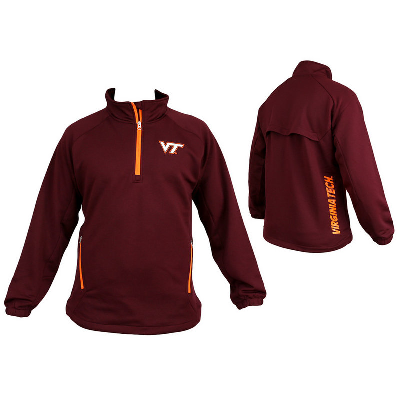 Virginia Tech Performance Quarter Zip Aviator Sweatshirt