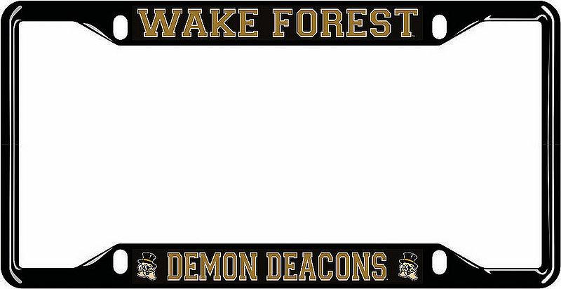 Wake Forest Demon Deacons License Plate Frame Black 05685