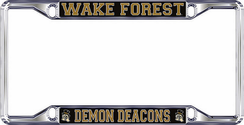 Wake Forest Demon Deacons License Plate Frame Silver 05684
