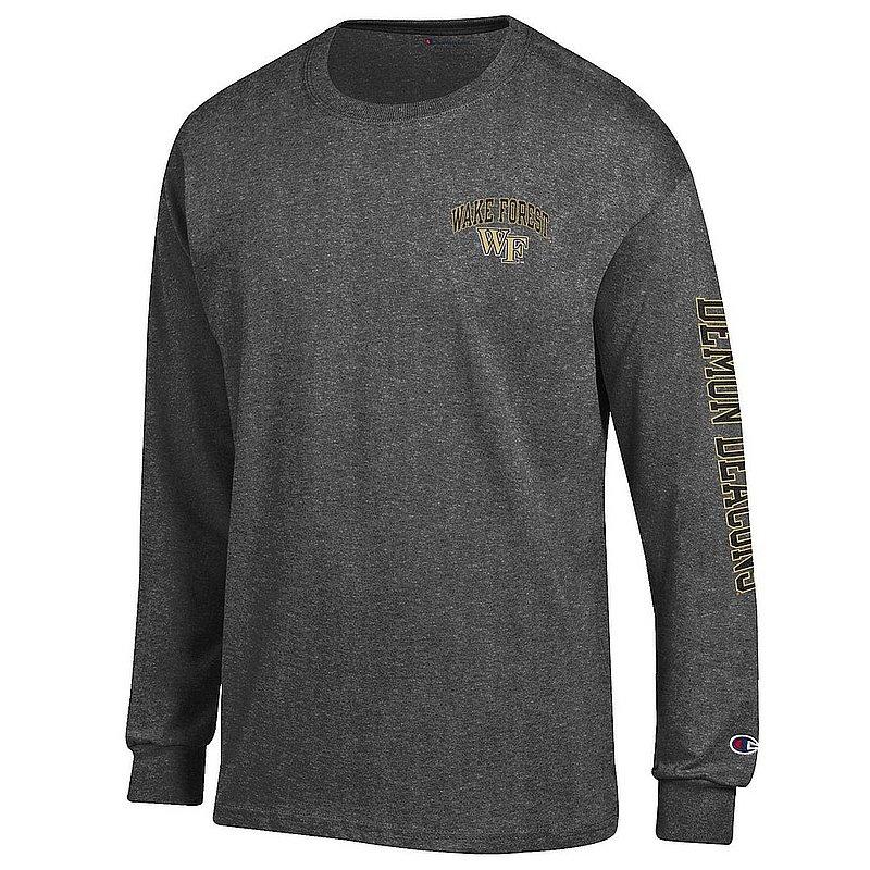 Wake Forest Demon Deacons Long Sleeve Tshirt Letterman Charcoal APC02974035/APC02984729