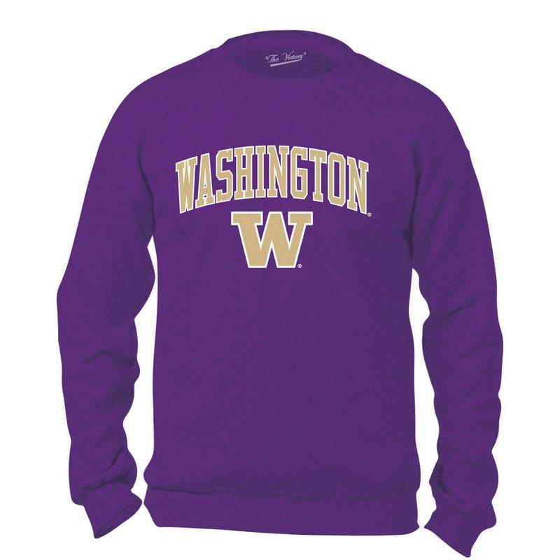 Washington Huskies Crewneck Sweatshirt Arch Purple WASV1411A