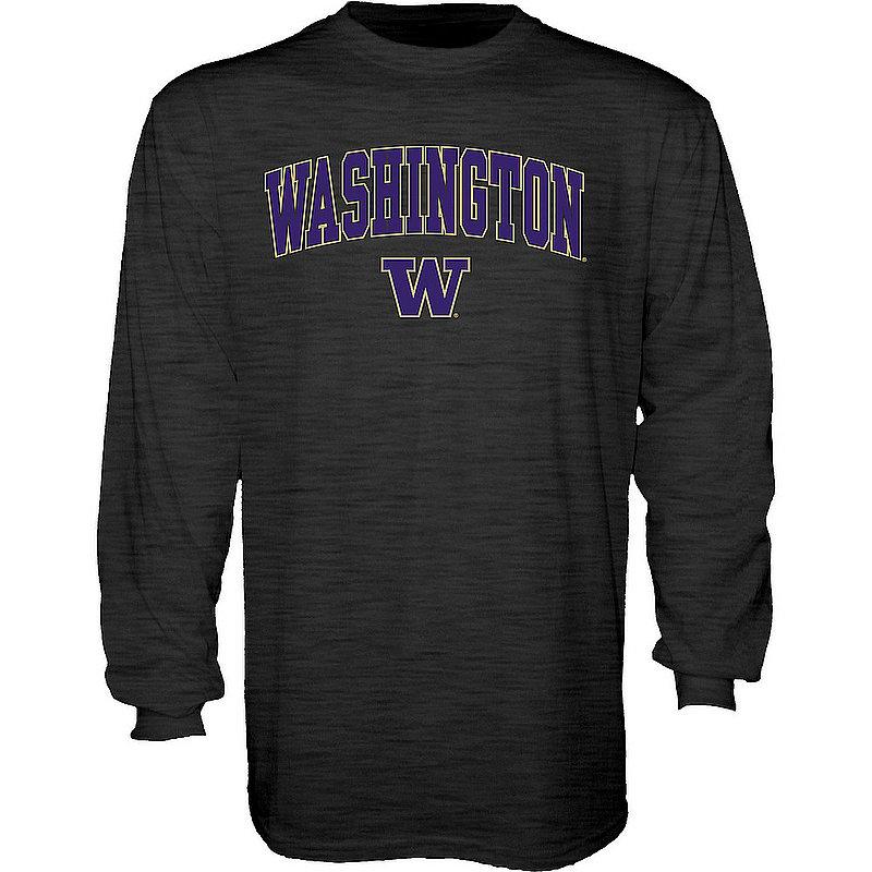 Washington Huskies Long Sleeve Tshirt Varsity Charcoal APC02879931