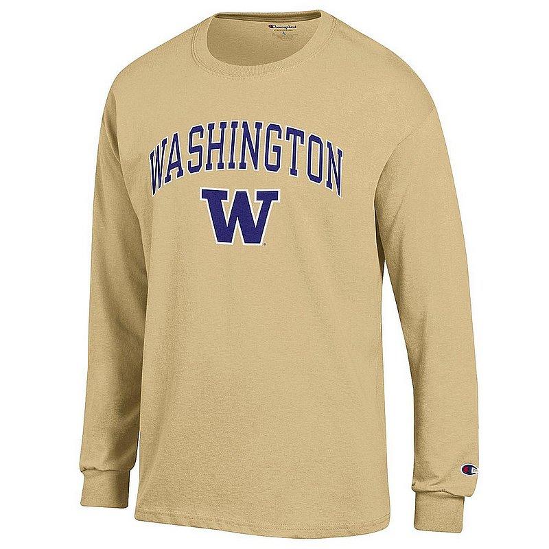 Washington Huskies Long Sleeve Tshirt Varsity Gold APC03007049