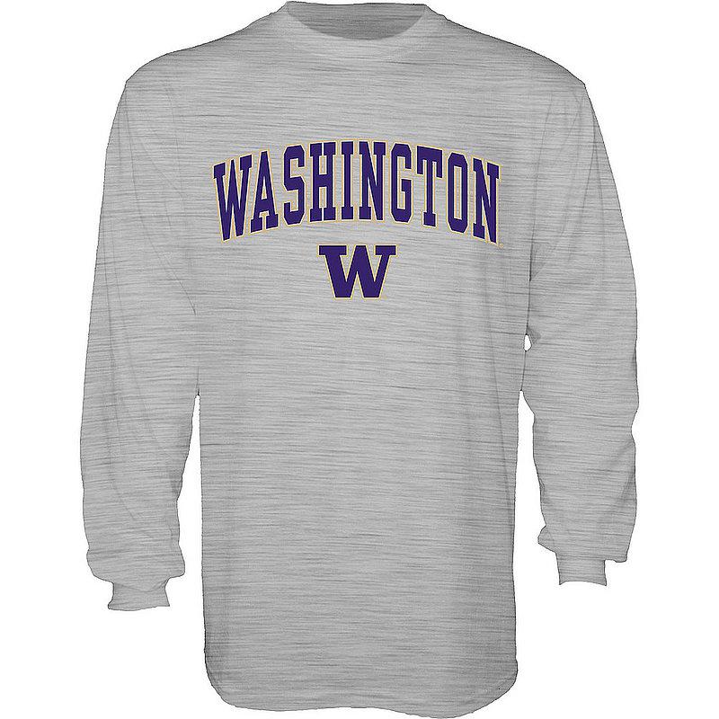 Washington Huskies Long Sleeve TShirt Varsity Gray 00000000BCR5N