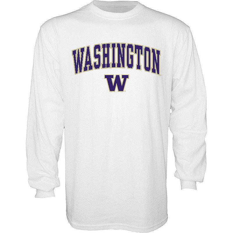 Washington Huskies Long Sleeve TShirt Varsity White APC03006351