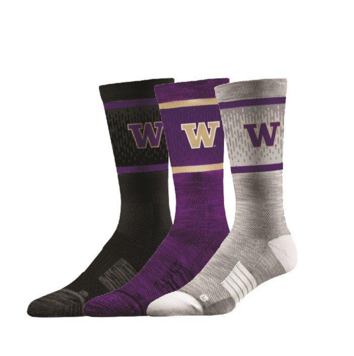 Washington Huskies Socks 3-Pack