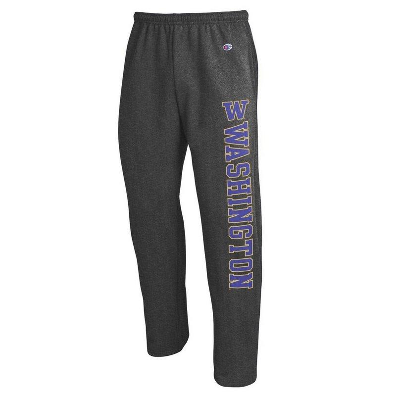 Washington Huskies Sweatpants Pockets Charcoal APC02886117