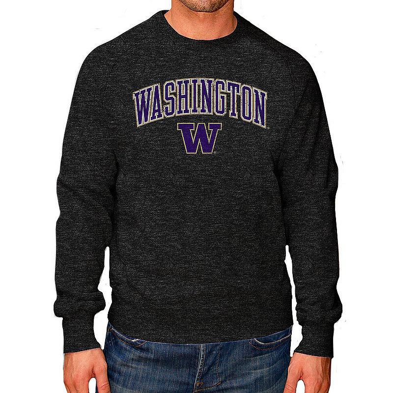Washington Huskies Vintage Crewneck Sweatshirt Charcoal Victory WASV1241B_TV6135M_HBK