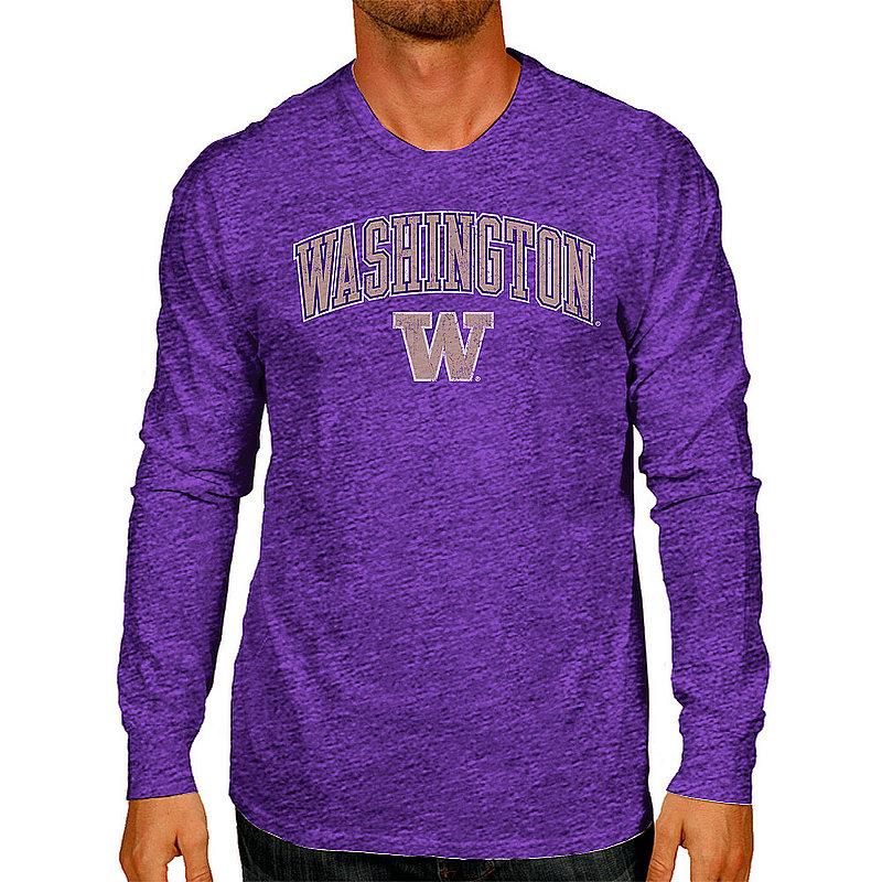 Washington Huskies Vintage Long Sleeve Tshirt Victory Purple WASV1241A_TV402M_HPU