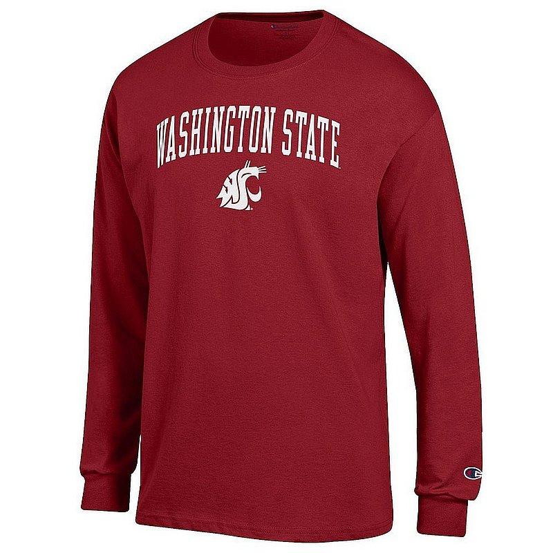 Washington State Cougars Long Sleeve TShirt Varsity Crimson APC02974303*