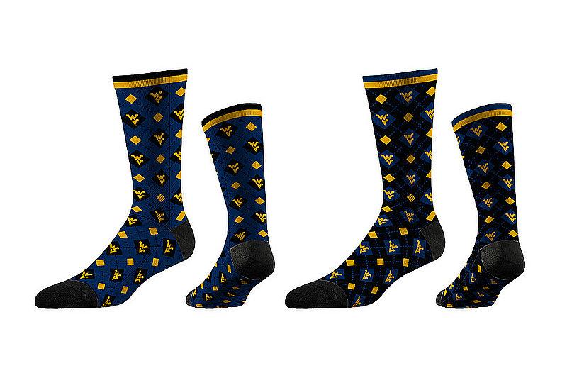 West Virginia Mountaineers Argyle Sock 2-Pack