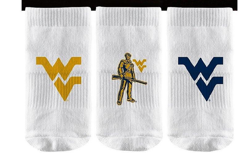 West Virginia Mountaineers Baby Socks 3-Pack
