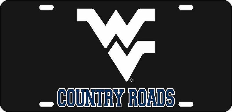 West Virginia Mountaineers License Plate Black 09002