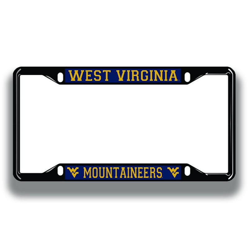 West Virginia Mountaineers License Plate Frame Black 08999