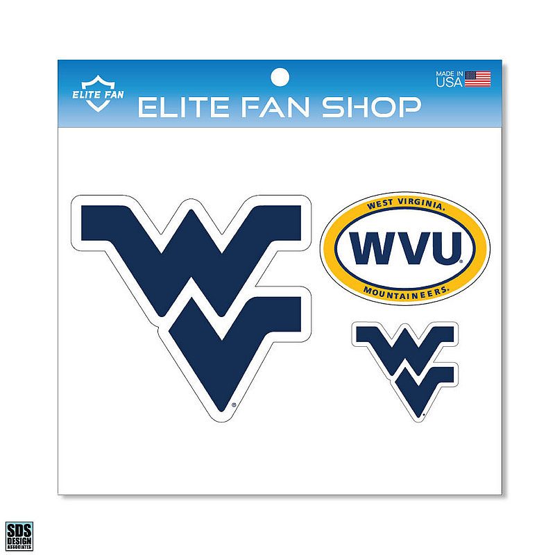 West Virginia Mountaineers Magnet 3-Pack