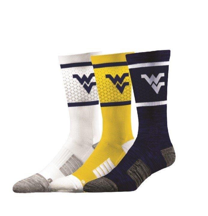 West Virginia Mountaineers Socks 3-Pack