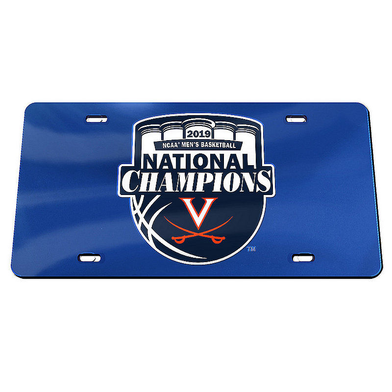 Wincraft Virginia Cavaliers National Basketball Champions License Plate 2019 Crest (Wincraft)