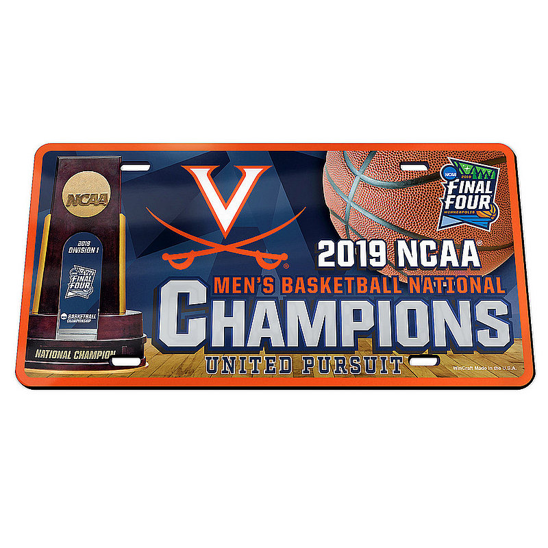 Wincraft Virginia Cavaliers National Basketball Champions License Plate 2019 Trophy (Wincraft)