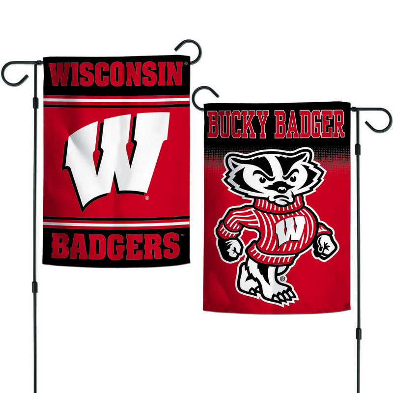 "Wisconsin Badgers 12.5""x18"" Garden Flag"