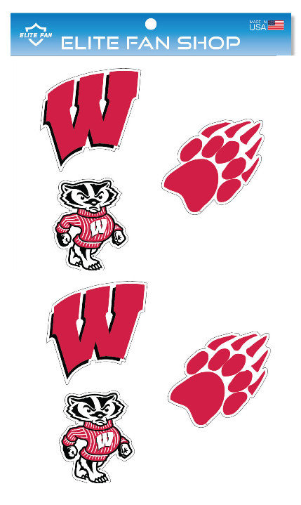 "Wisconsin Badgers 3"" Vinyl Decal 6-Pack"
