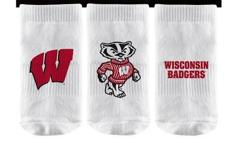 Wisconsin Badgers Baby Socks 3-Pack