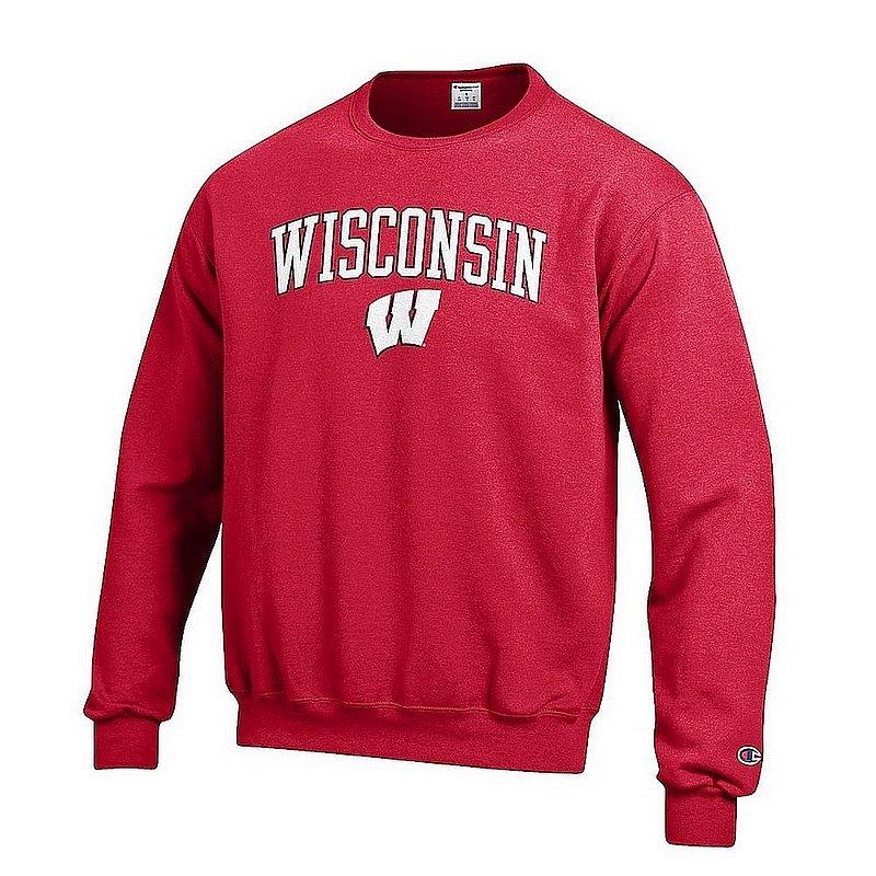 Wisconsin Badgers Crewneck Sweatshirt Varsity Cardinal Arch Over APC02967261*