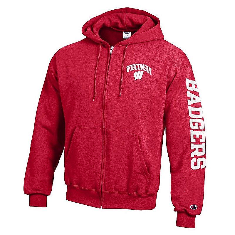 Wisconsin Badgers Full Zip Hoodie Sweatshirt Letterman Cardinal APC02973729/APC02973730