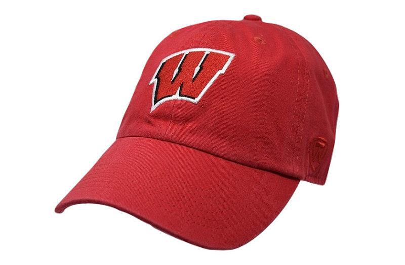 Wisconsin Badgers Hat Cardinal CREW-WI-ADJ-TMC