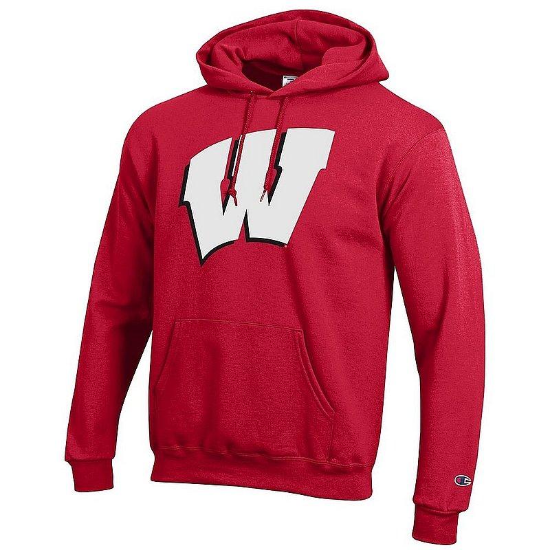 Wisconsin Badgers Hoodie Sweatshirt Cardinal Icon APC03003827*