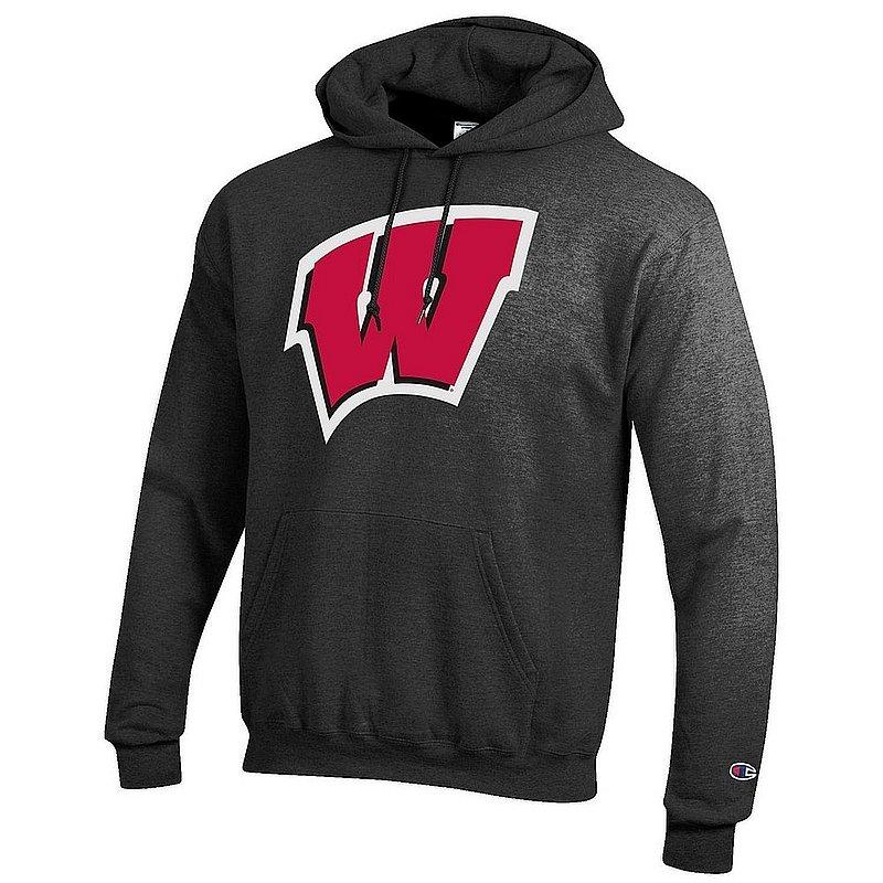 Wisconsin Badgers Hoodie Sweatshirt Charcoal Icon APC03003977*