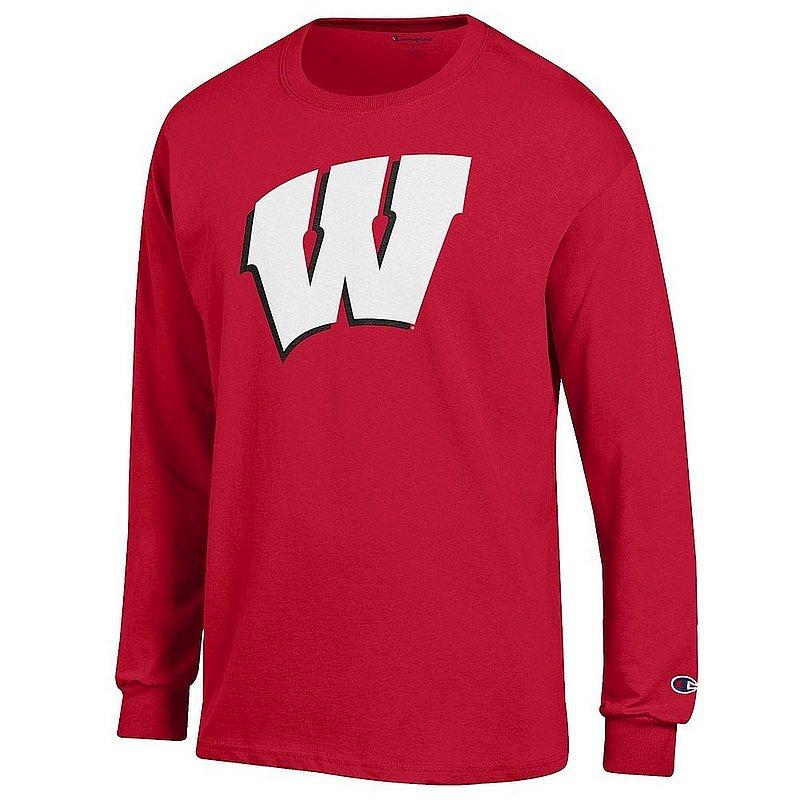 Wisconsin Badgers Long Sleeve TShirt Cardinal Icon APC03003827*