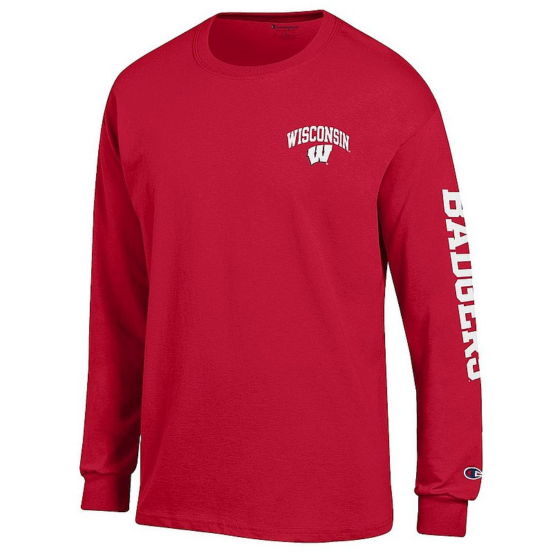 Wisconsin Badgers Long Sleeve TShirt Letterman Cardinal APC02973729/APC02973730
