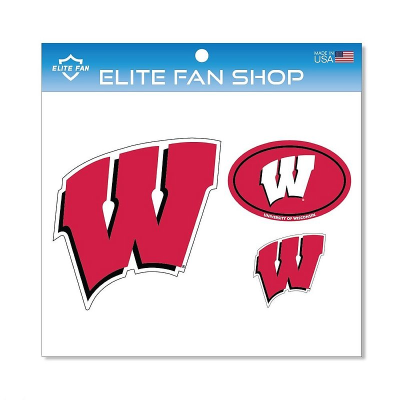 Wisconsin Badgers Magnet 3-Pack
