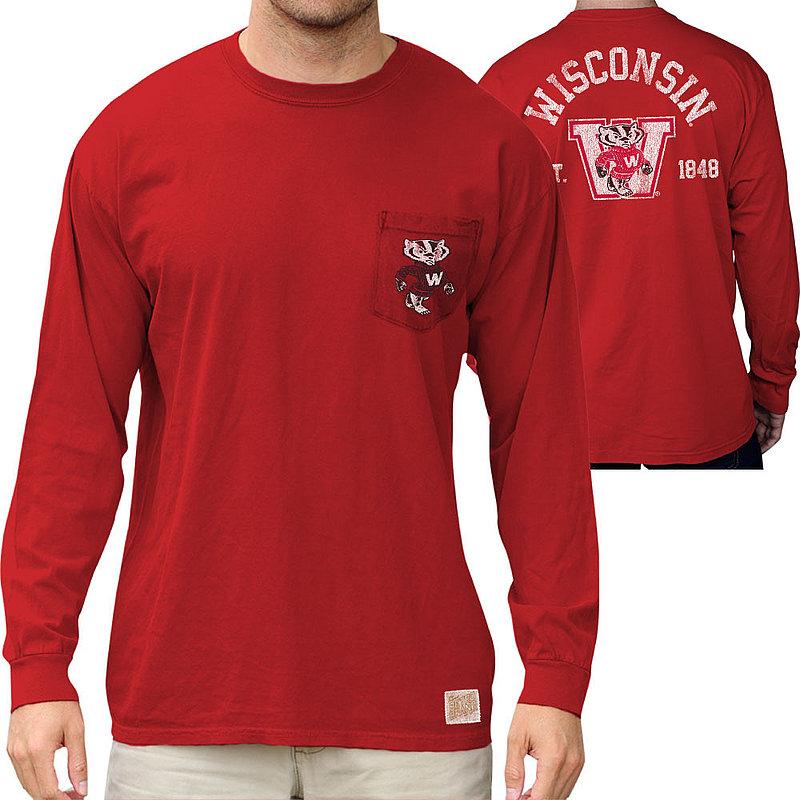 Wisconsin Badgers Pocket Long Sleeve TShirt RB406