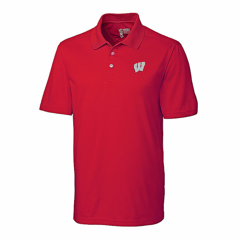 Wisconsin Badgers Polo Shirt Cardinal MBK01275RD