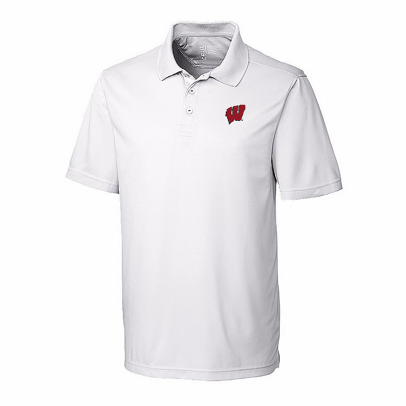Wisconsin Badgers Polo Shirt Golf White MBK01275WH