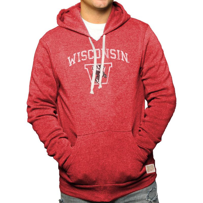 Wisconsin Badgers Retro Hoodie Sweatshirt RB6090