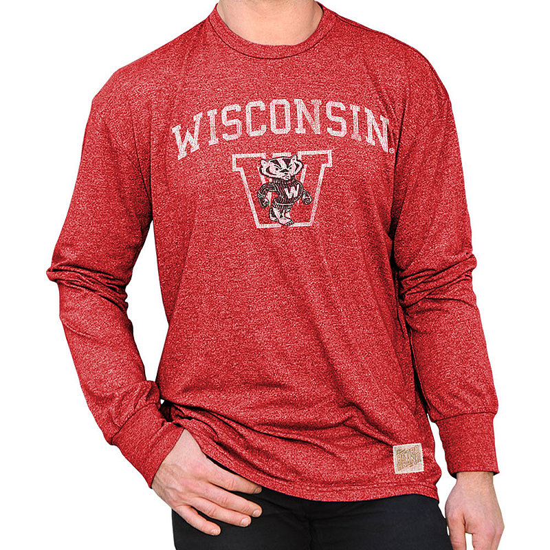 Wisconsin Badgers Retro Long Sleeve TShirt RB424
