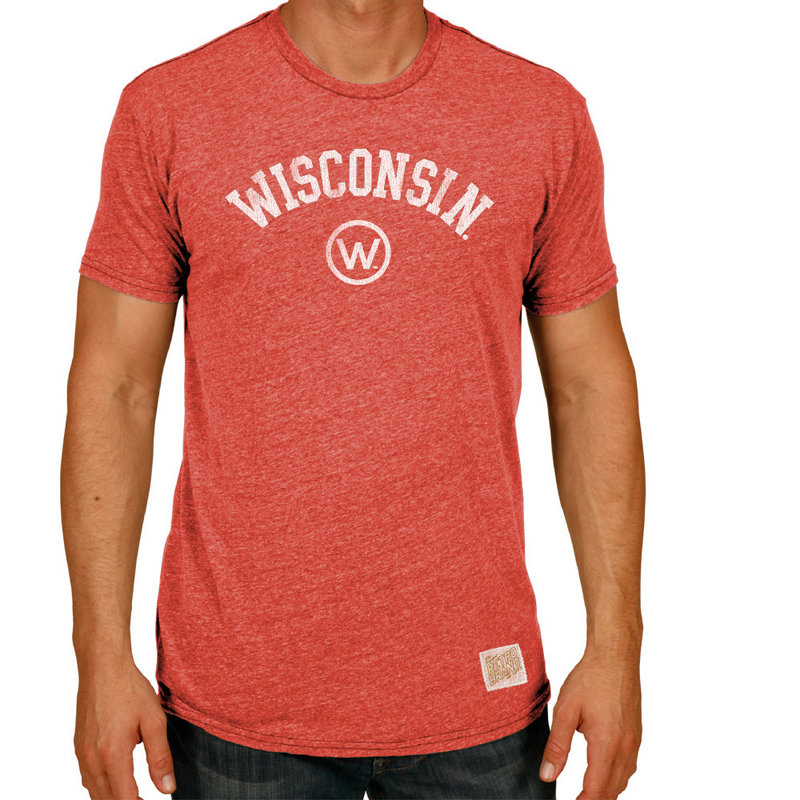 Wisconsin Badgers Retro TriBlend Tshirt Red CWIS972A