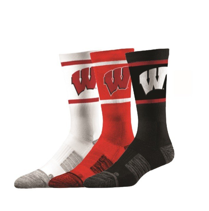 Wisconsin Badgers Socks 3-Pack