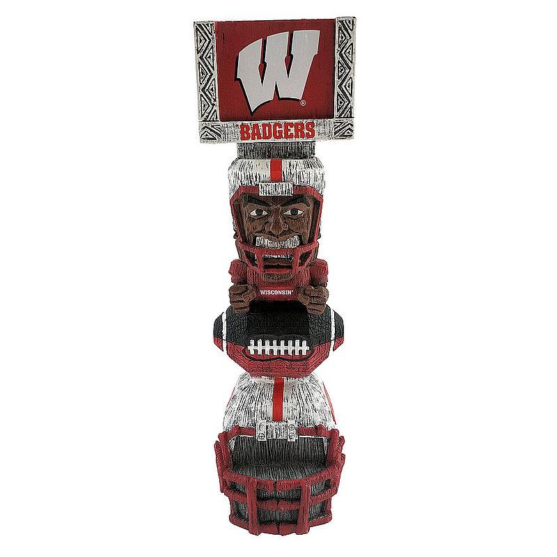 """Wisconsin Badgers Tiki Totem Figurine 14.5"""" TKNCSTKWI"""