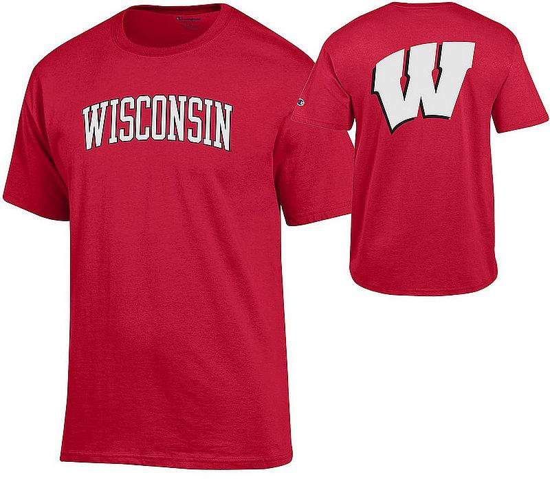 Wisconsin Badgers TShirt Back Cardinal APC03009126/APC03009125