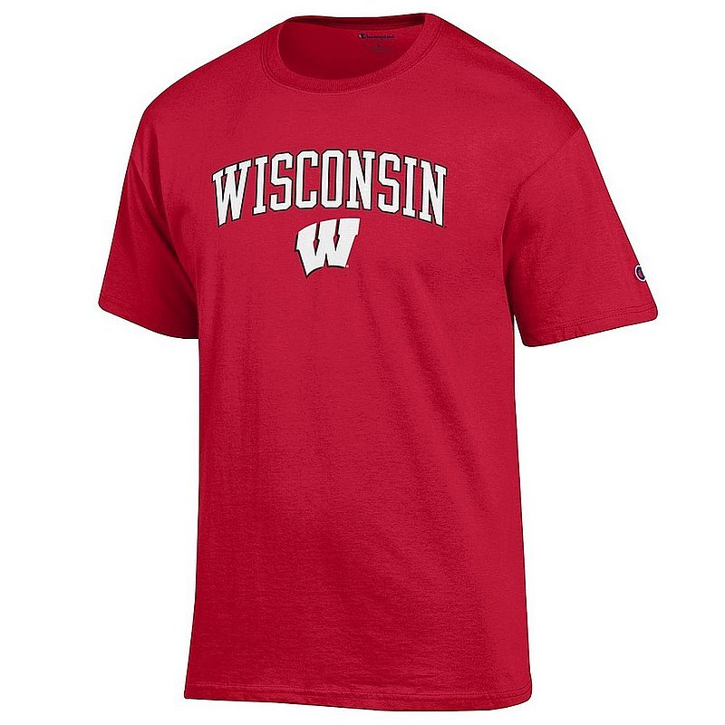 Wisconsin Badgers TShirt Varsity Cardinal Arch Over APC02967261*