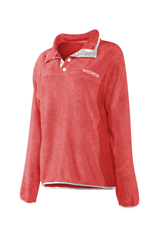 Wisconsin Badgers Women's Snap Pullover Sweatshirt 439-03-WI441