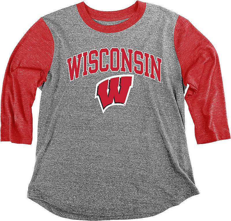 Wisconsin Badgers Womens 3/4th Sleeve Tshirt