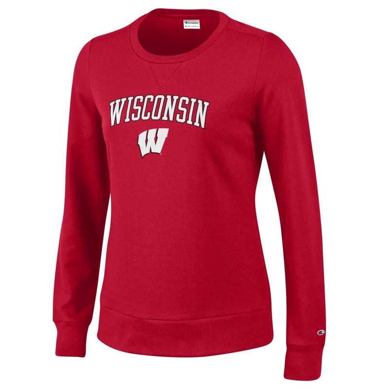Wisconsin Badgers Womens Crewneck Sweatshirt Scarlet APC03155790