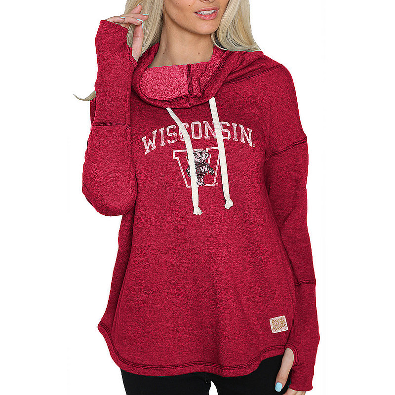 Wisconsin Badgers Womens Funnel Neck Sweatshirt CWIS002R_RB1920M_HRE